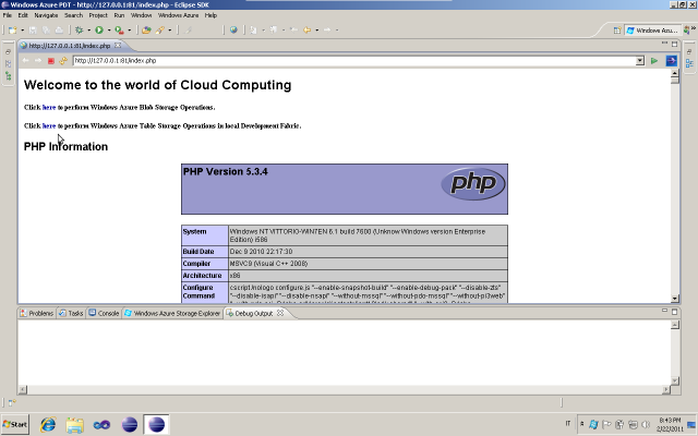 Windows Azure PHP running