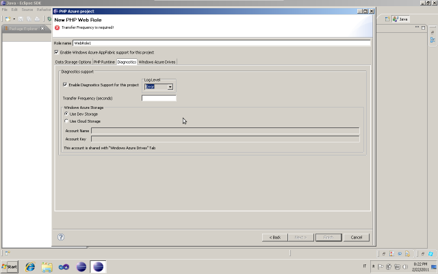 Windows Azure PHP web role diagnostics